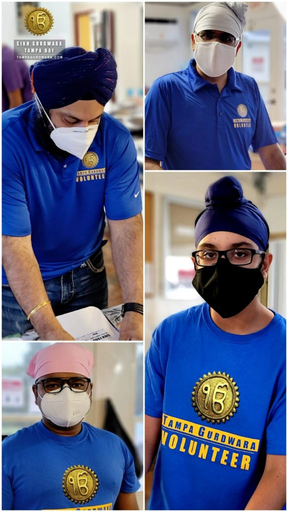 Tampa Sikh Gurdwara Preparing FREE HOT MEALS